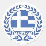 Guirnalda de Grecia Pegatinas Redondas