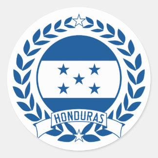 Guirnalda de Honduras Pegatina Redonda
