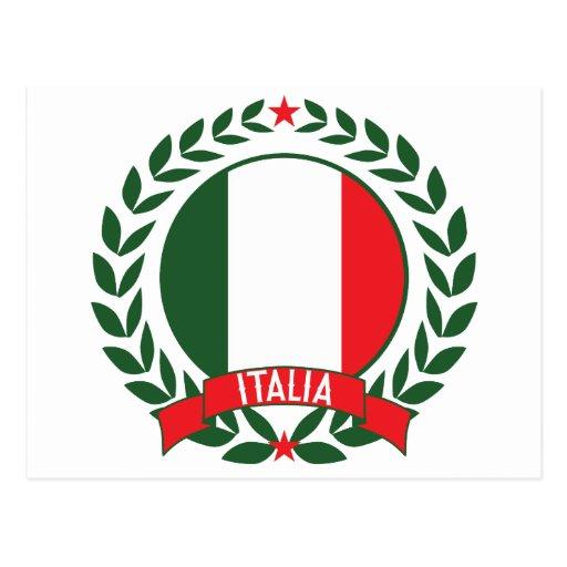Guirnalda de Italia Tarjeta Postal