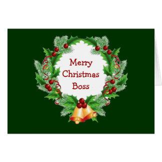 Guirnalda de la baya del acebo de Boss del navidad Tarjeta De Felicitación
