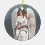 Guirnalda de la flor del ángel de Pascua del vinta Ornaments Para Arbol De Navidad