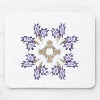 Guirnalda de la flor del arte del fractal del azul alfombrilla de ratones