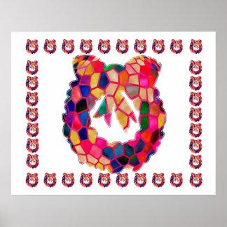 Guirnalda de la flor del vitral: DISFRUTE DE LA AL Impresiones