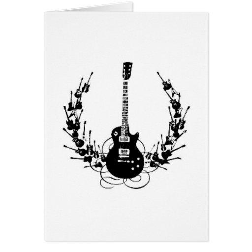 Guirnalda de la guitarra tarjeta