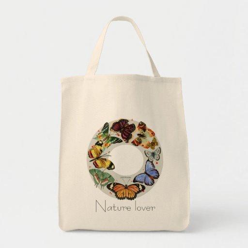 Guirnalda de la mariposa: bolso de tinta multicolo bolsa de mano