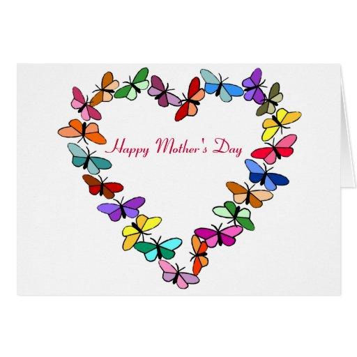 Guirnalda de la mariposa, tarjeta feliz del día de