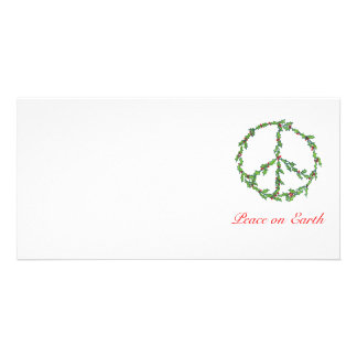 Guirnalda de la paz del navidad de la tarjeta de l tarjetas fotograficas