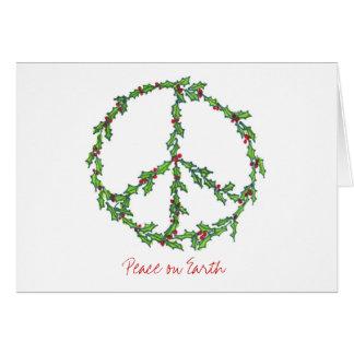 Guirnalda de la paz del navidad, paz en tarjeta de