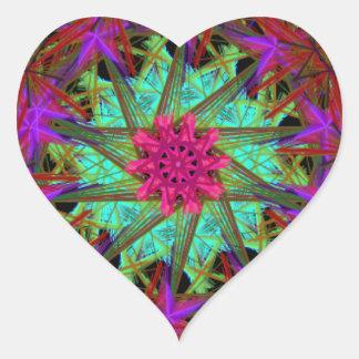 guirnalda de la primavera pegatina en forma de corazón