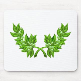 Guirnalda de la rama de olivo tapete de ratones