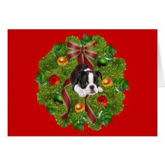 Guirnalda de la tarjeta de Navidad de Boston Terri