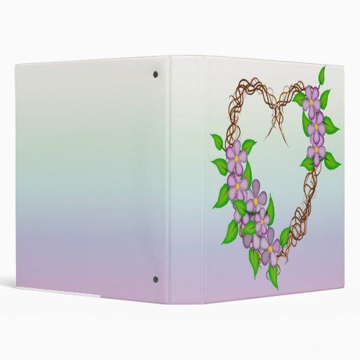 "Guirnalda de la vid de las flores de la púrpura carpeta 1"""
