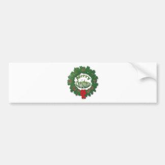 Guirnalda de las Felices Navidad Etiqueta De Parachoque