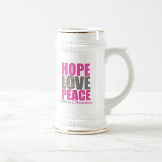 Guirnalda de las Felices Navidad de la paz del amo Tazas De Café
