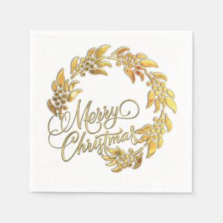 Guirnalda de las Felices Navidad Servilletas Desechables