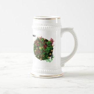 Guirnalda de las Felices Navidad Taza De Café