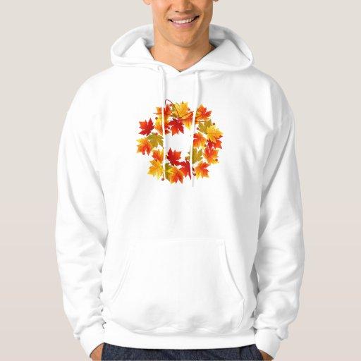 Guirnalda de las hojas de otoño sudadera con capucha