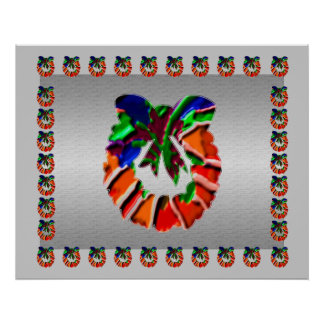 Guirnalda de los pétalos de la flor de la hoja n:  impresiones
