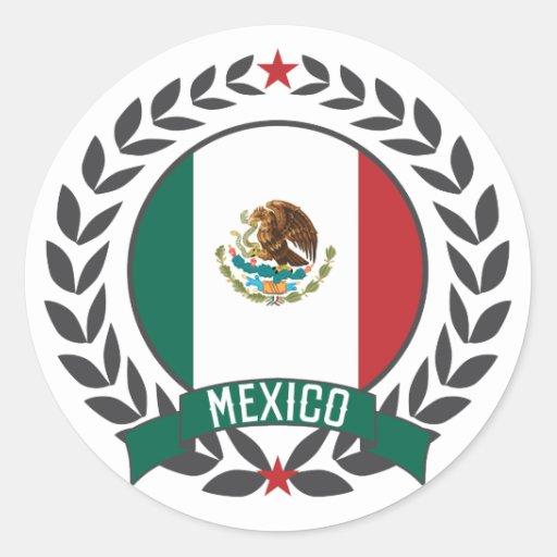 Guirnalda de México Etiquetas Redondas