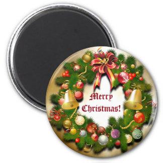 Guirnalda de Navidad de Personalizable Imán Redondo 5 Cm