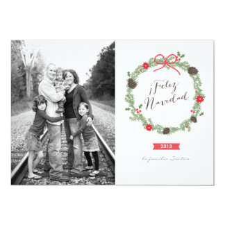 Guirnalda de Navidad Tarjeta de Navidad Card