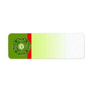 Guirnalda de Oranament de la etiqueta del símbolo Etiqueta De Remite