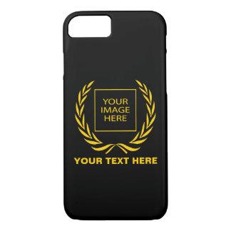 Guirnalda de oro personal del laurel funda iPhone 7