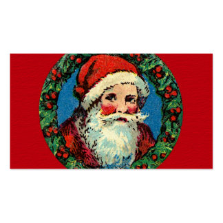 Guirnalda de Papá Noel del vintage Tarjetas De Visita