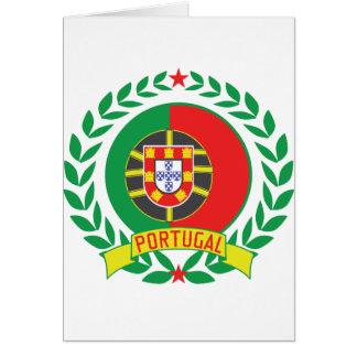 Guirnalda de Portugal Tarjeta De Felicitación