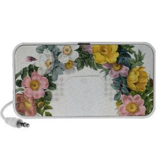 Guirnalda de rosas, Frontispiece para los 'rosas d Notebook Altavoces