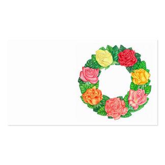 Guirnalda de rosas tarjetas de visita