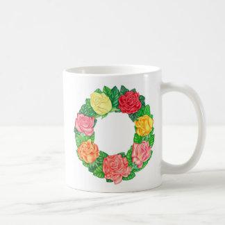 Guirnalda de rosas taza