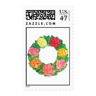 Guirnalda de rosas timbres postales