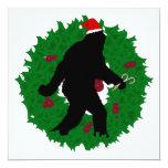 Guirnalda de Squatchin del navidad Invitación 13,3 Cm X 13,3cm