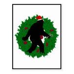 Guirnalda de Squatchin del navidad Postal