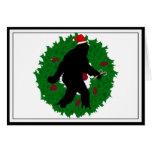 Guirnalda de Squatchin del navidad Tarjeta De Felicitación