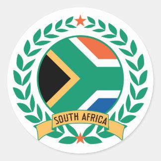Guirnalda de Suráfrica Pegatina Redonda