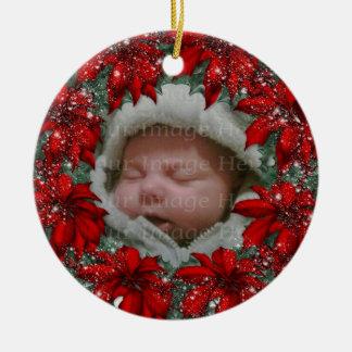 Guirnalda del acebo del navidad ornamentos de navidad
