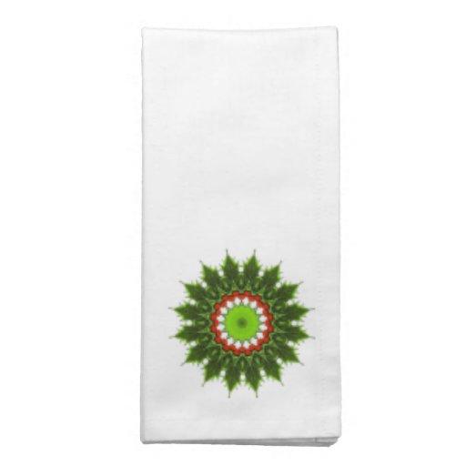 guirnalda del acebo del navidad servilletas imprimidas