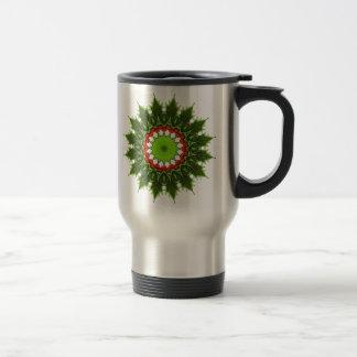 guirnalda del acebo del navidad tazas de café