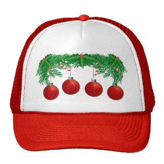 Guirnalda del árbol de navidad con el gorra de 201