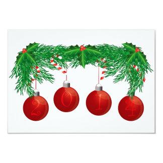 Guirnalda del árbol de navidad con la tarjeta de invitación 8,9 x 12,7 cm