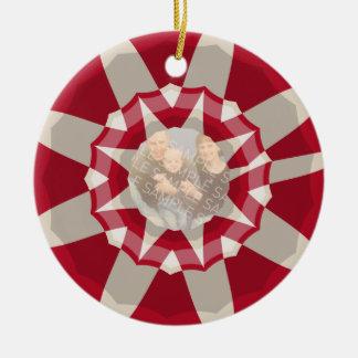 Guirnalda del bastón de caramelo adorno navideño redondo de cerámica