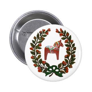 Guirnalda del caballo de Dala Pin Redondo 5 Cm