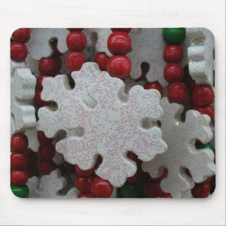 Guirnalda del copo de nieve mouse pad