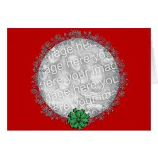 Guirnalda del copo de nieve tarjeta de felicitación