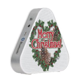 Guirnalda del corazón de las Felices Navidad Altavoz