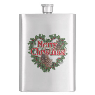 Guirnalda del corazón de las Felices Navidad Cantimplora