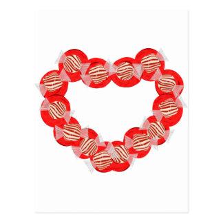 Guirnalda del corazón del caramelo de hierbabuena postal