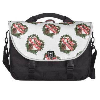 Guirnalda del corazón del navidad (Feliz Navidad) Bolsas De Portatil
